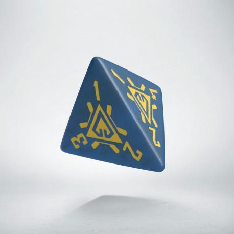 D4 Arcade Blue & yellow die