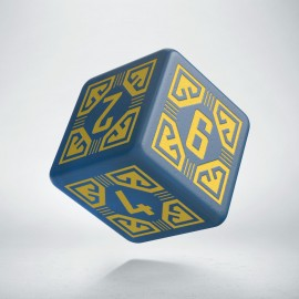 D6 Arcade Blue & yellow die