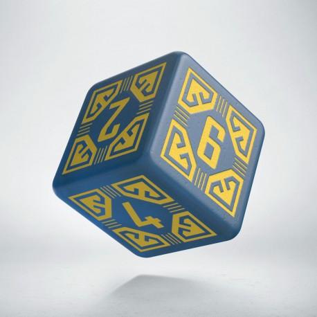 D6 Arcade Blue & yellow die