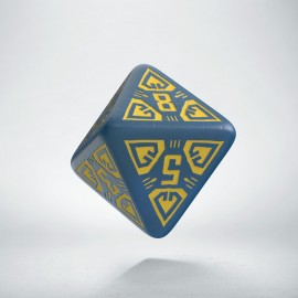D8 Arcade Blue & yellow die