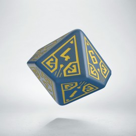 D10 Arcade Blue & yellow die