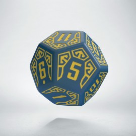D12 Arcade Blue & yellow die