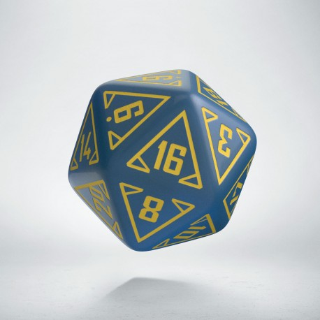D20 Arcade Blue & yellow die