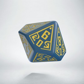 D100 Arcade Blue & yellow die