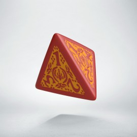D4 Dragon Slayer Red & orange die
