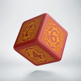 D6 Dragon Slayer Red & orange die