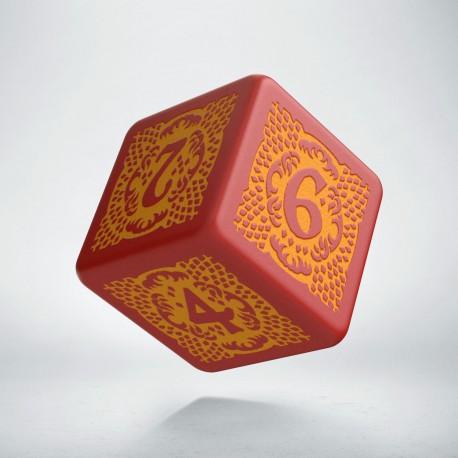 D6 Dragon Slayer Red & orange die
