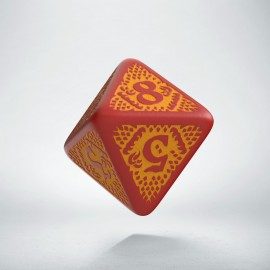 D8 Dragon Slayer Red & orange die