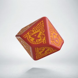 D10 Dragon Slayer Red & orange die