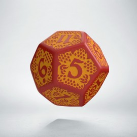 D12 Dragon Slayer Red & orange die