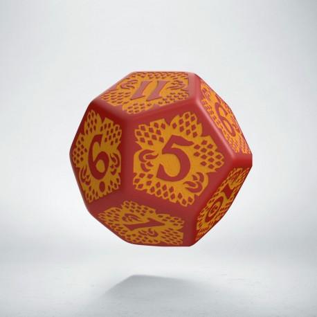 D12 Dragon Slayer Red & orange die