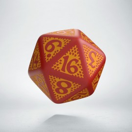 D20 Dragon Slayer Red & orange die