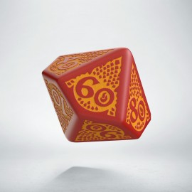 D100 Dragon Slayer Red & orange die