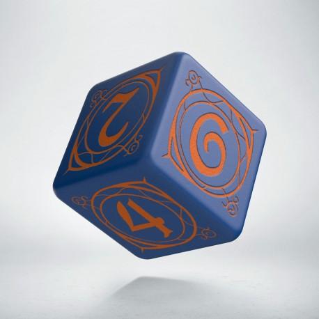 D6 Wizard Dark-blue & orange die