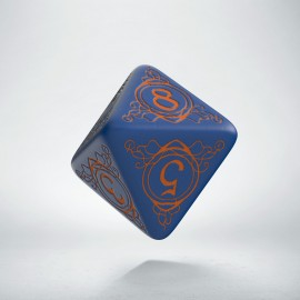 D8 Wizard Dark-blue & orange die