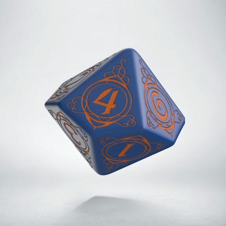 D10 Wizard Dark-blue & orange die