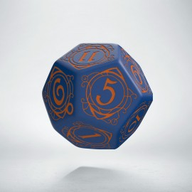 D12 Wizard Dark-blue & orange die