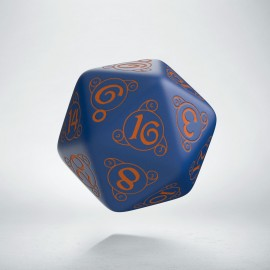D20 Wizard Dark-blue & orange die