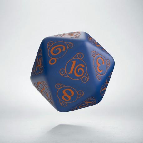 D20 Wizard Dark-blue & orange die