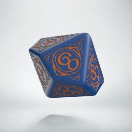 D100 Wizard Dark-blue & orange die