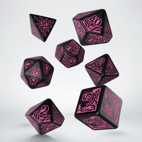 Call of Cthulhu 7th Edition - Black & magenta Dice Set