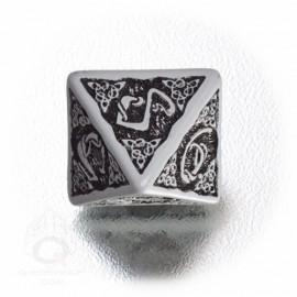 D8 Celtic 3D Gray & black Die (1)