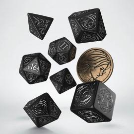 PRZEDSPRZEDAŻ Wiedźmin, zestaw kości RPG. Yennefer - Obsydianowa Gwiazda