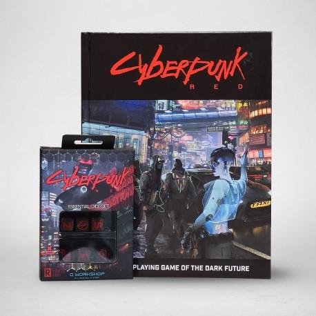 Cyberpunk RED rulebook & Essential Dice Set