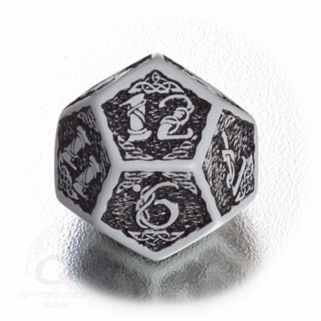 D12 Celtic 3D Gray & black Die (1)