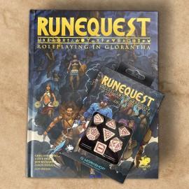Runequest - Roleplaying in Glorantha podręcznik EN + kości
