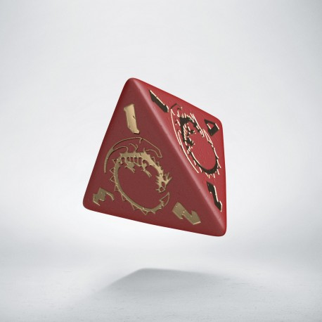 D4 Dragons Red & Gold