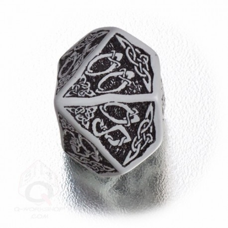 D100 Celtic 3D Gray & black Die (1)