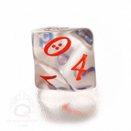 D10 Classic Translucent Blue & red Die (1)