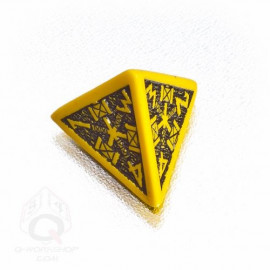 D4 Dwarven Yellow & black Die (1)