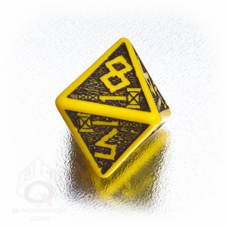 D8 Dwarven Yellow & black Die (1)