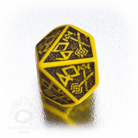 D100 Dwarven Yellow & black Die (1)