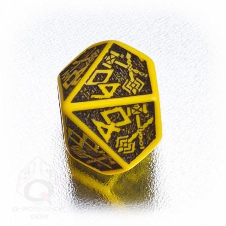 D100 Dwarven Yellow & black Die (1)