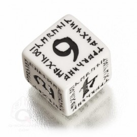 D6 Runic White & black Die (1)
