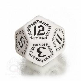 D12 Runic White & black Die (1)