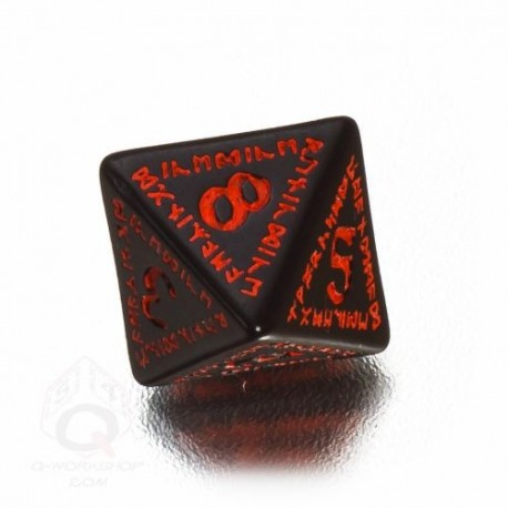 D8 Runic Black & red Die (1)