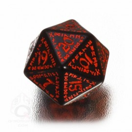 D20 Runic Black & red Die (1)