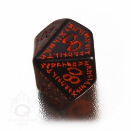 D100 Runic Black & red Die (1)