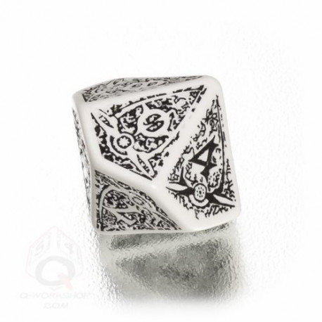 D10 Klanarchy White & black Die (1)