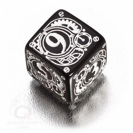 D6 Steampunk Black & white Die (1)