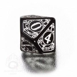 D10 Steampunk Black & white Die (1)
