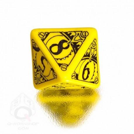 D8 Steampunk Yellow & black Die (1)