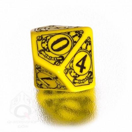 D10 Steampunk Yellow & black Die (1)