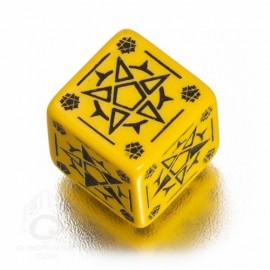 D6 Pentagram Yellow & black Die (1)
