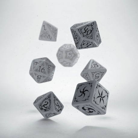 STOCK CLEARANCE: Tribal Gray & black Dice Set (7) - 60% OFF !