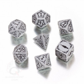 Tribal Gray & black Dice Set (7)